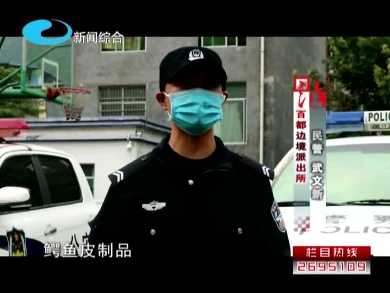 广西边检查获一批鳄鱼皮制品