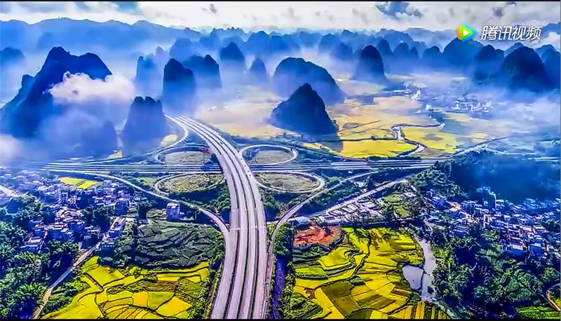 广西这条公路美到国外 英媒惊呼如仙境