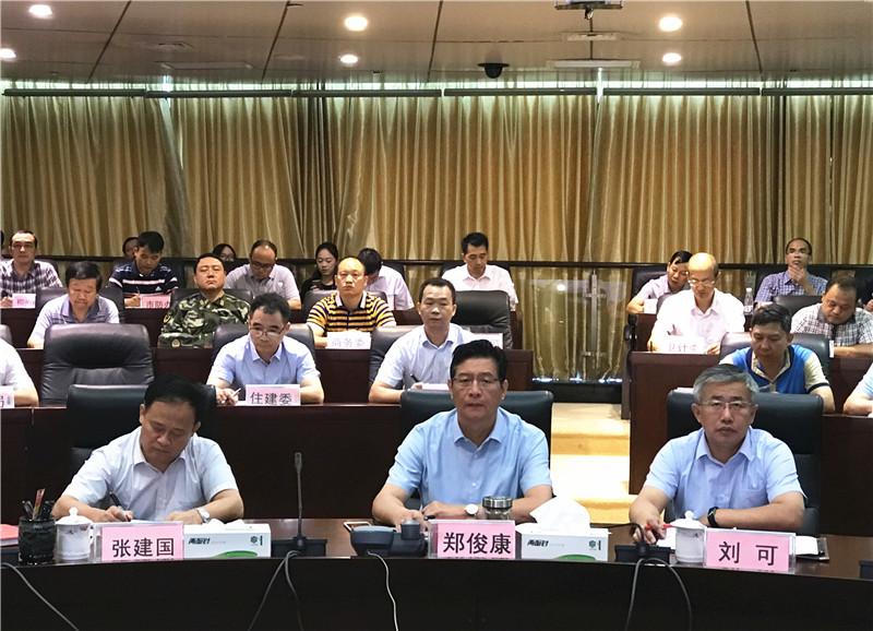 郑俊康:落实全区防汛会精神 负责人要到抗洪抢险第一线