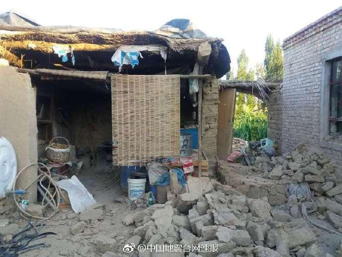 新疆精河发生6.6级地震 致32人受伤142间房屋倒塌