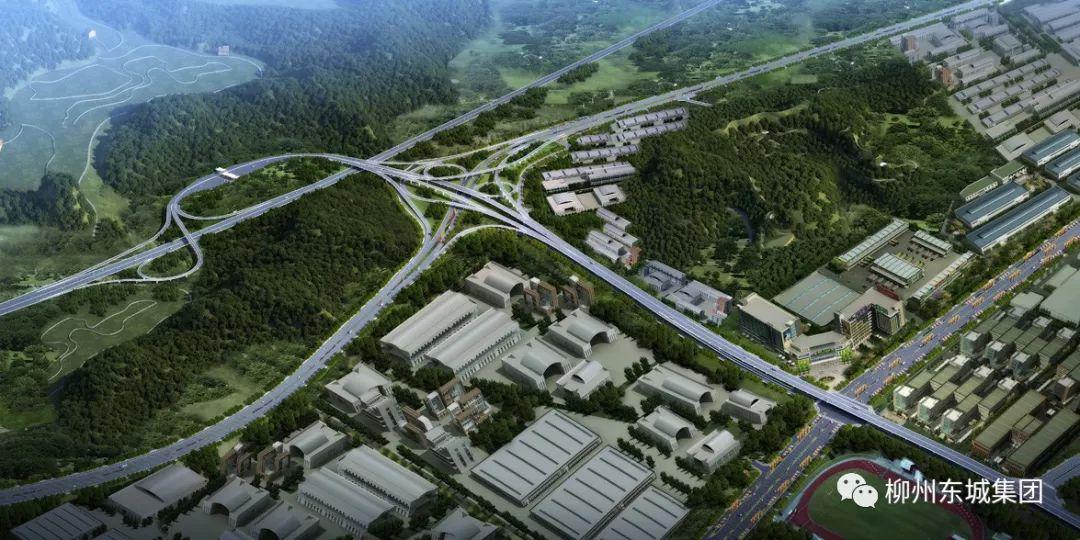 重磅!广西柳州汽车城—东外环柳东段曙光立交主线全线贯通