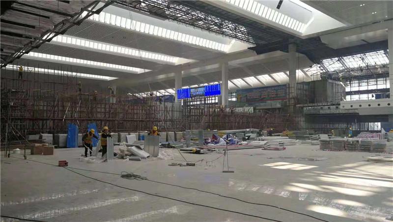 火车站东站房扩建工程进展顺利 力争12月11日前外立面亮相