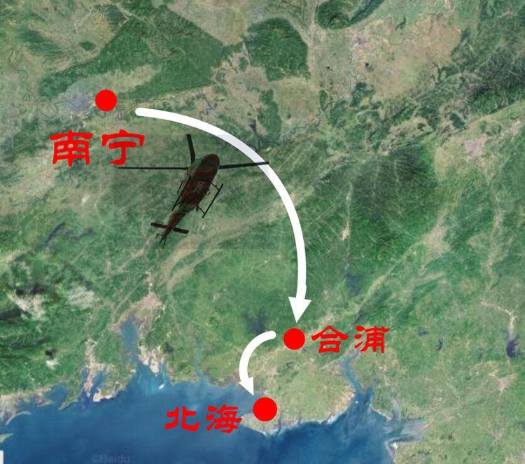 高速公路上起降直升机 广西首例!