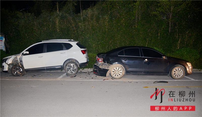 追寻肇事车9公里,车被撞后柳州小伙自己报警自己破案