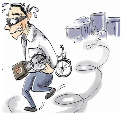 赔大了!男子酒瘾上头偷上千元自行车转手5块卖了,换来7个月班房