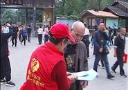 """一群""""红马甲""""""""小红帽""""来到龙潭公园……"""