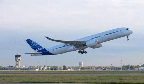 第二架空客a350xwb测试飞机顺利完成首飞