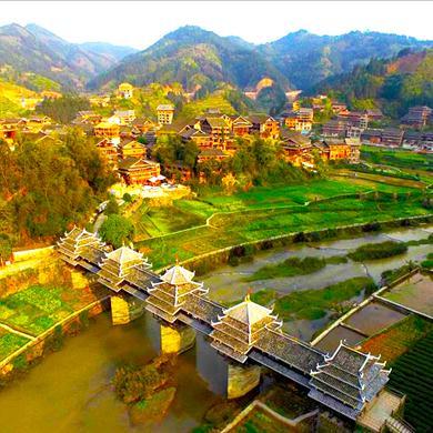 航拍千年侗寨 美丽三江